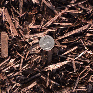 Bulk dyed brown hardwood mulch by the truckload