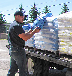 Water softener salt hand delivery