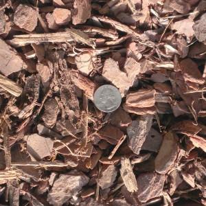 Pine bark mulch packaged