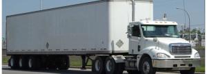 Semi Truck full pallet salt delivery