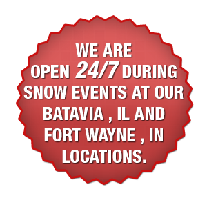 open 24/7 during snow events
