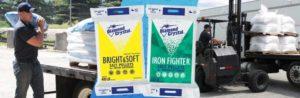 Water softener salt pellets