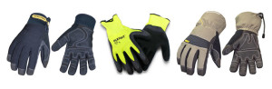 Workwear waterproof gloves