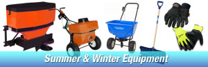 Shovels, spreaders, plows, gloves delivered, midwest salt