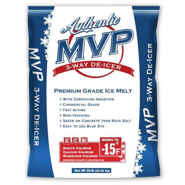 MVP blue packaged ice melt