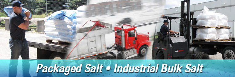 Bulk industrial salt delivery and Packaged Water Conditioning Salt Delivery