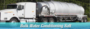Bulk industrial water conditioning salt delivery