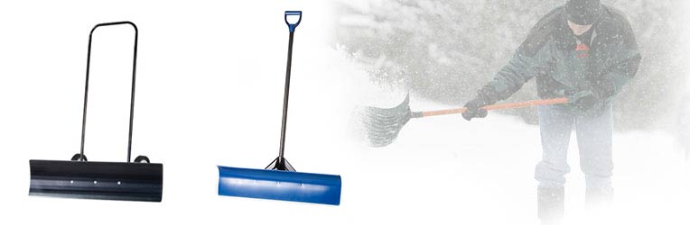 Snow removal equipment delivery, snow shovels