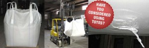 Salt totes, 1,000lb and 2,000lb packages