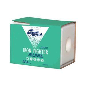 Diamond crystal water softener salt block 50lb with Iron remover