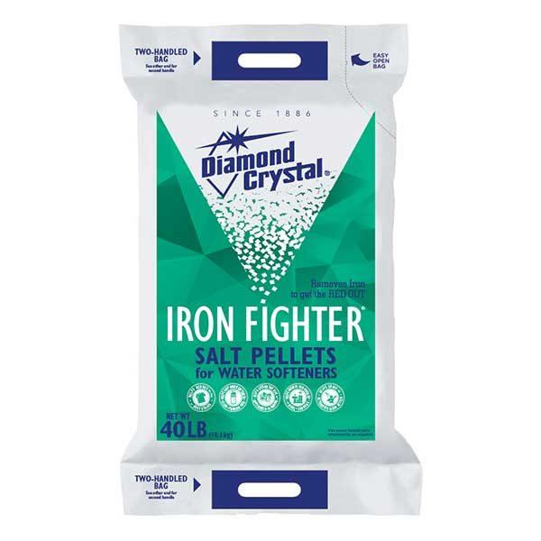 Diamond Crystal Iron Fighter Rust reducing water softener salt pellets