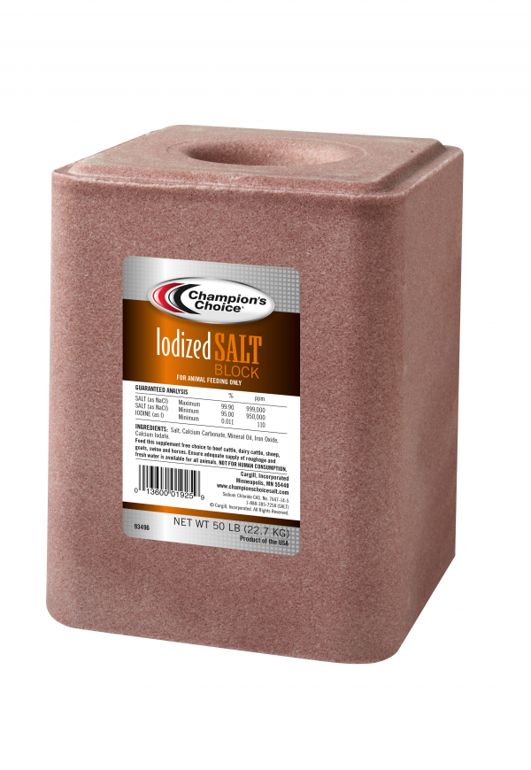 50lb Iodized Feed Salt Block